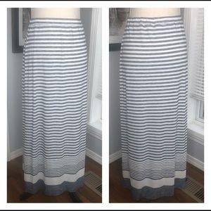 Max studio blue and white striped skirt medium